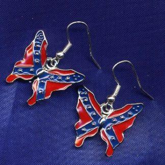 Confederate Butterfly (fish hook) Earrings