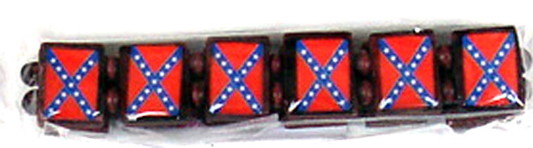 Rebel Flag Stretchy Bracelet