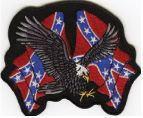 Eagle Patch with Rebel Flags