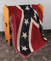 Woven Rebel Flag Blanket