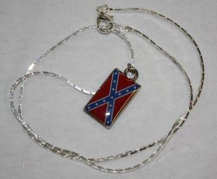 Rebel Flag Necklace