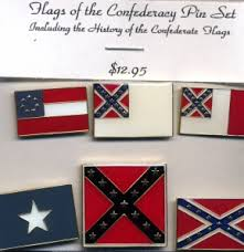 Flags of The Confederacy Pin Set