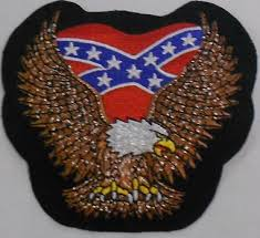 Eagle Patch with Rebel Flag