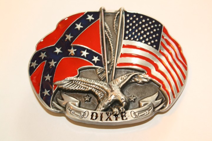 Eagle with Flags - Dixie Belt Buckle