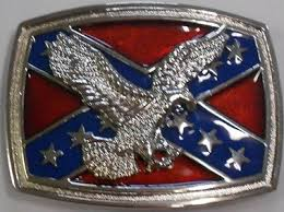 Eagle/Rebel Flag Belt Buckle