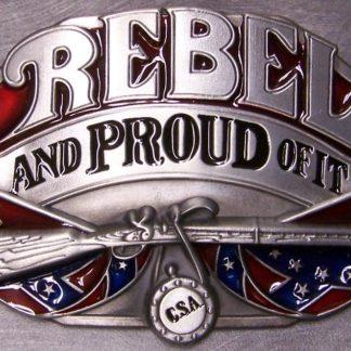 Rebel & Proud Of It Belt Buckle