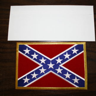 Large Rebel Flag Patch (Envelope for size comparison)
