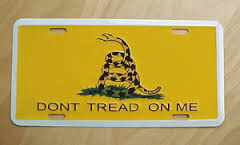 Don't Tread On Me - License Plate