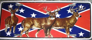 Rebel with Deer - License Plate