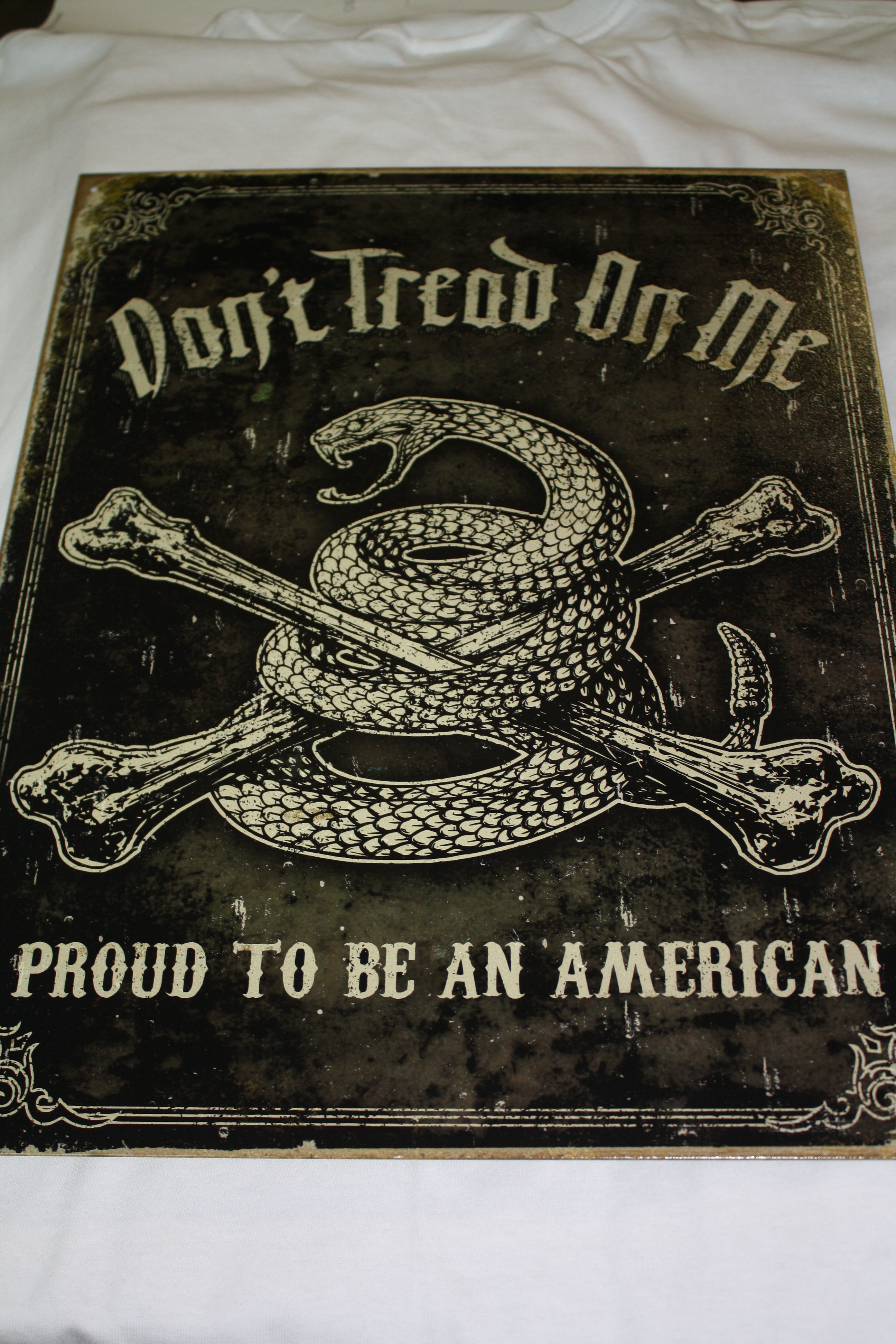Don't Tread On Me Metal Sign