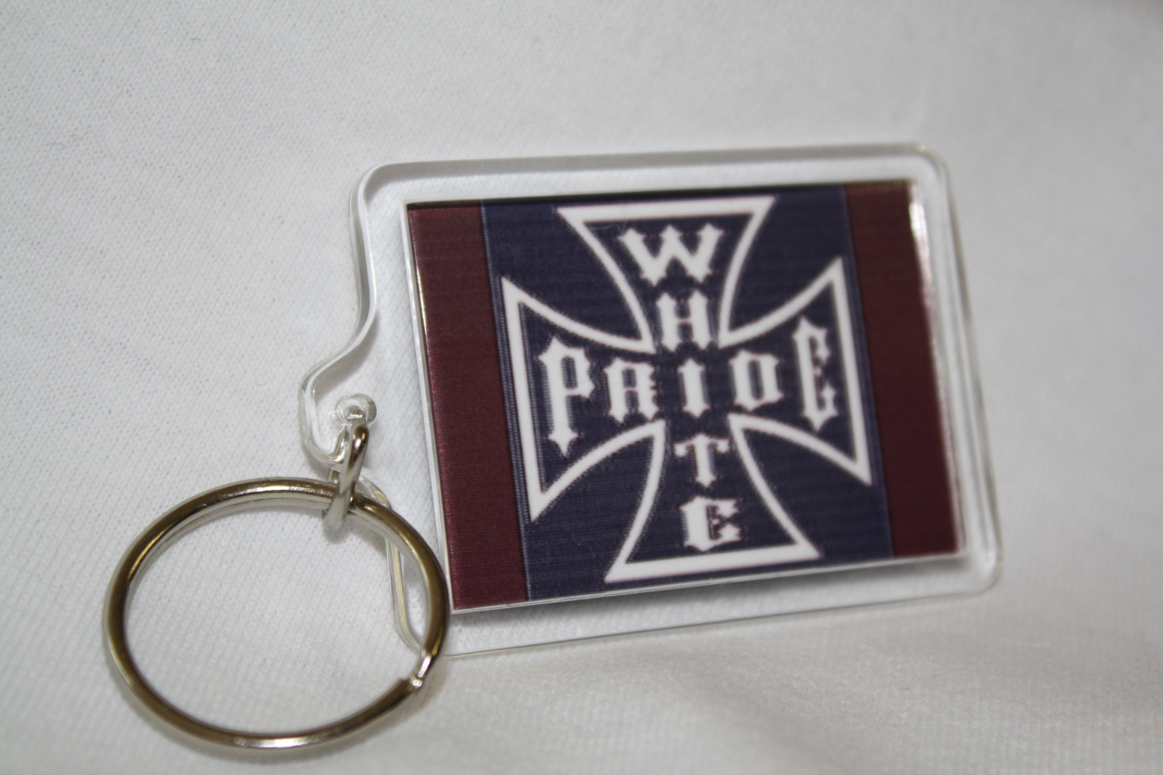 Iron Cross White Pride Keychain – American Heritage Store 1529f9915b66