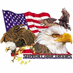 Support Our Troops (With Eagles) - T-shirt