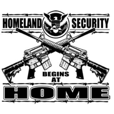 Homeland Security - Begins at Home - T-shirt