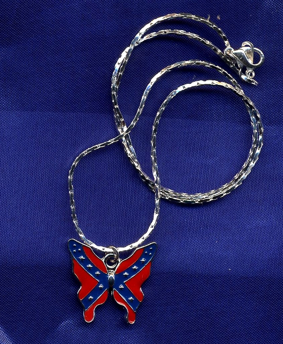 Confederate Butterfly Necklace