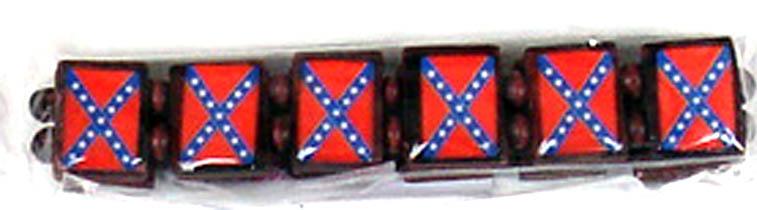 Rebel Flag Stretchy Bracelet