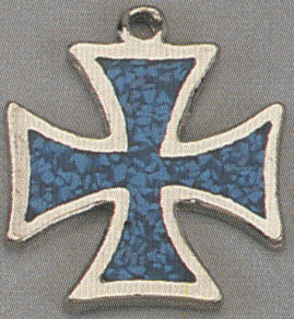 Turqoise Iron Cross Necklace