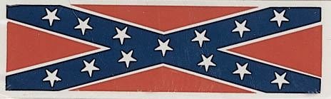 Rebel Flag Bumper Sticker