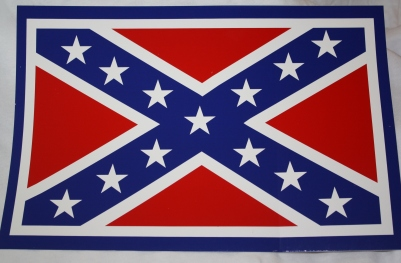 Very Large Rebel Flag Sticker