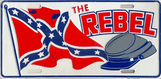 The Rebel Confederate Flag License Plate