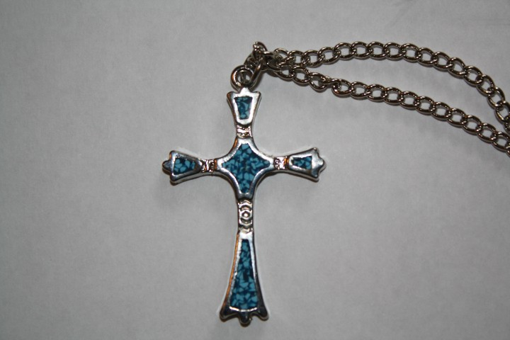 Blue Cross Necklace