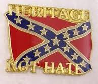 Heritage Not Hate Pin