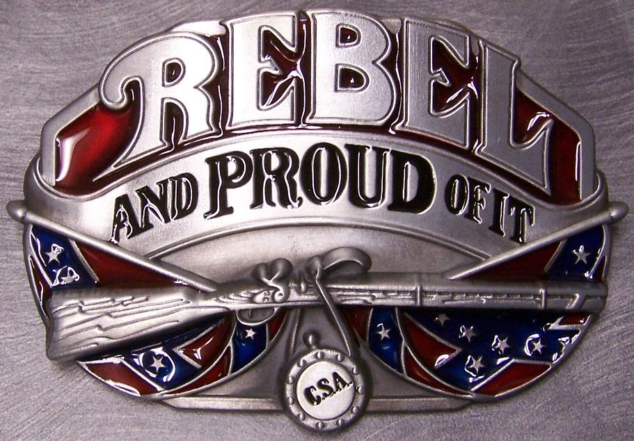 Rebel & Proud Of It Belt Buckle