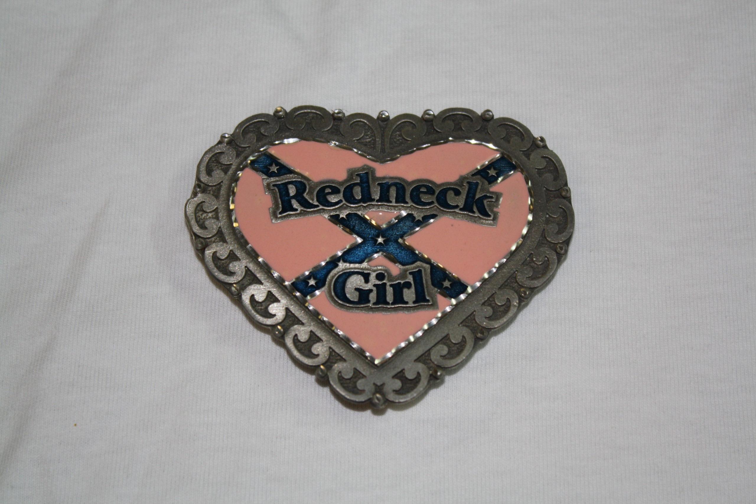 Redneck Girl - Pink Belt Buckle