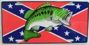 Confederate Flag Fish License Plate